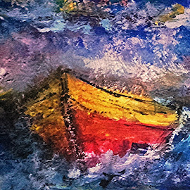 Boat  by Vanja Škrobica - Painting All Painting