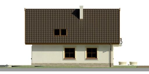 Dom przy Pomarańczowej - Elewacja lewa