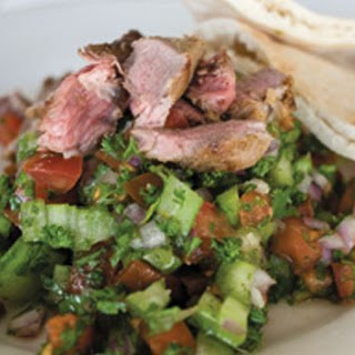 Fast Fatoush With Lamb