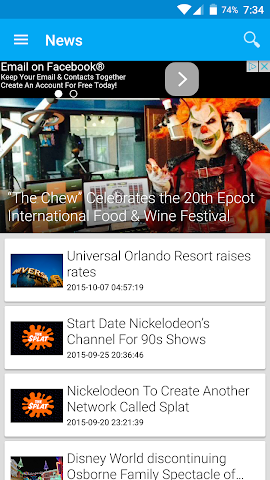 android Theme Park Junkie Official Screenshot 0