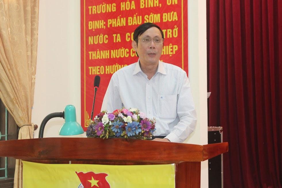 Ông Đào Quang Nghị, Phó Bí thư Đảng ủy Khối Doanh nghiệp tỉnh phát biểu tại buổi họp báo