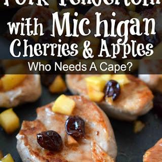 Pork Tenderloin with Michigan Cherries & Apples.
