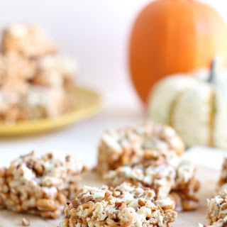 Pumpkin Spice White Chocolate Cereal Bars with Pecans