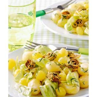 Salade Met Krieltjes En Omeletreepjes