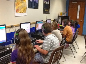 Photo: Georgia Elementary Middle School 5th graders jump into code