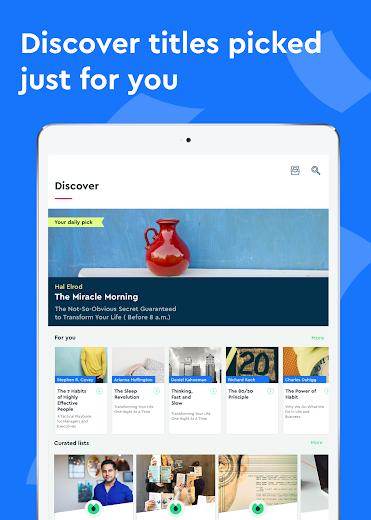 Screenshot 7 for Blinkist's Android app'