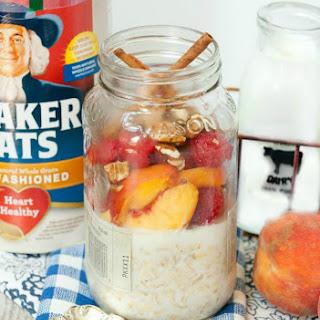 Peach Melba Pie Overnight Oats