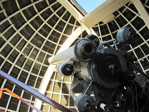 Photo: Zeiss telescope - Since opening in 1935, more than seven million people have put an eye to the 12-inch Zeiss refracting telescope. More people have looked though it than any other telescope in the world.