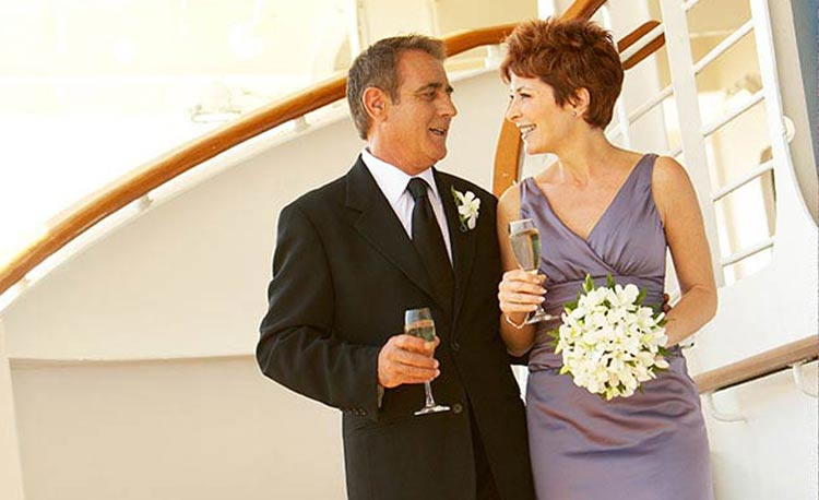 Princess offers two main renewal-of-vows packages for couples celebrating anniversaries.