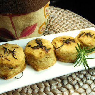 Flaky Vegan White Bean Biscuits with Rosemary Butter