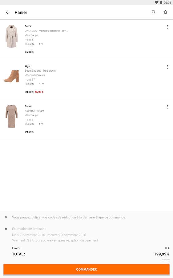Zalando shopping en ligne applications android sur - Zalando commande en traitement ...