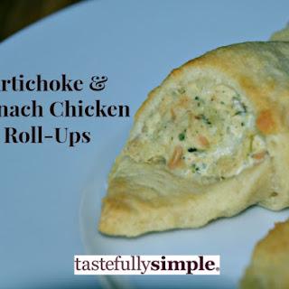 Artichoke and Spinach Chicken Roll-Ups