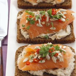 Salmon on Wholegrain Bread.
