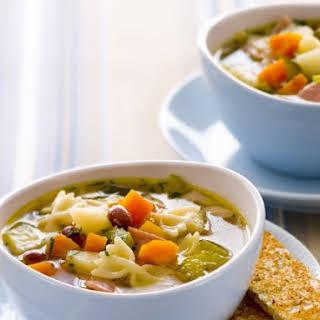 Hearty Farfalle Soup.