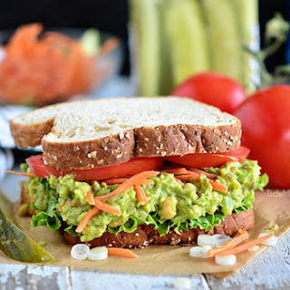 Sweet Heat Chickpea Avocado Salad Sandwich
