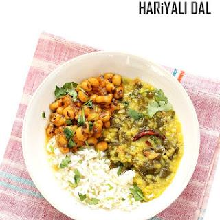 Spiced Lentil Chard Soup - Hariyali Dal