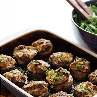 Keto Stuffed Mushrooms.