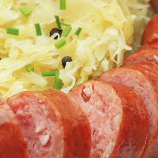 Polish Smoked Sausage and Sauerkraut.