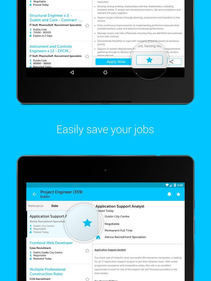 IrishJobs.ie Job Search App- screenshot