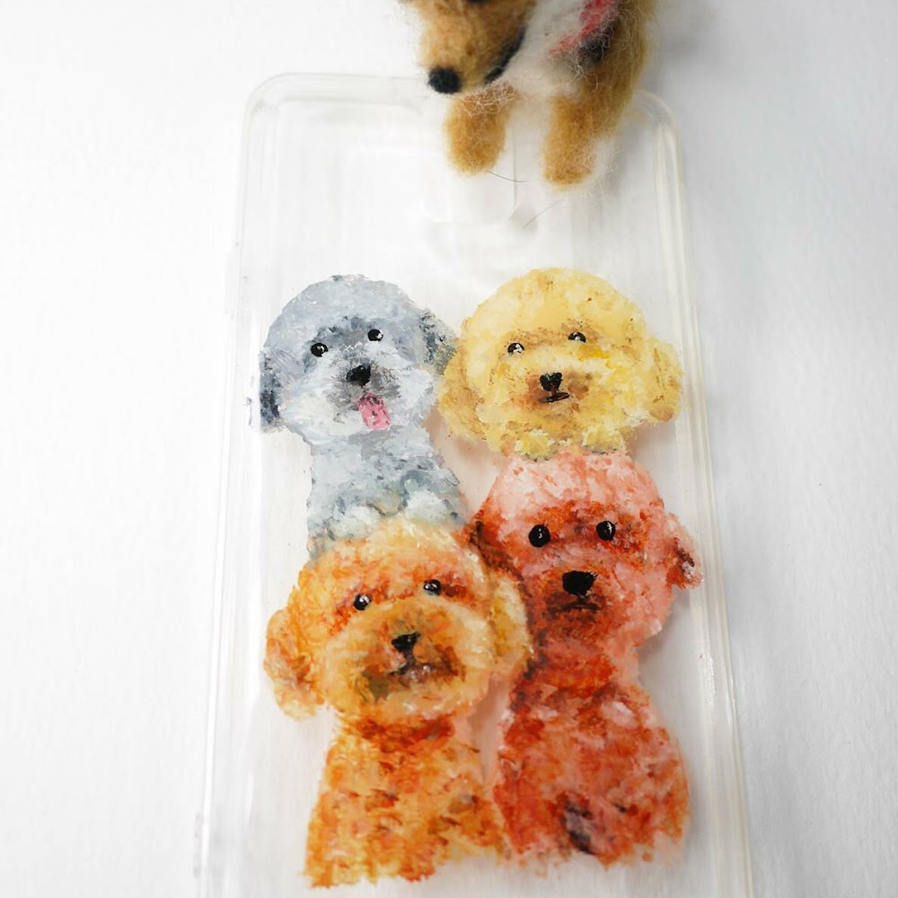 [訂製/custom-made] Dogs Painting Phone Case