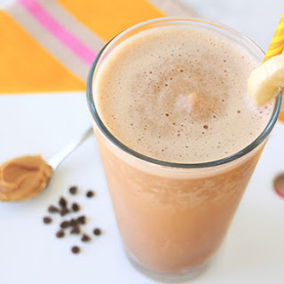 Healthy Peanut Butter Chocolate Banana Smoothie.