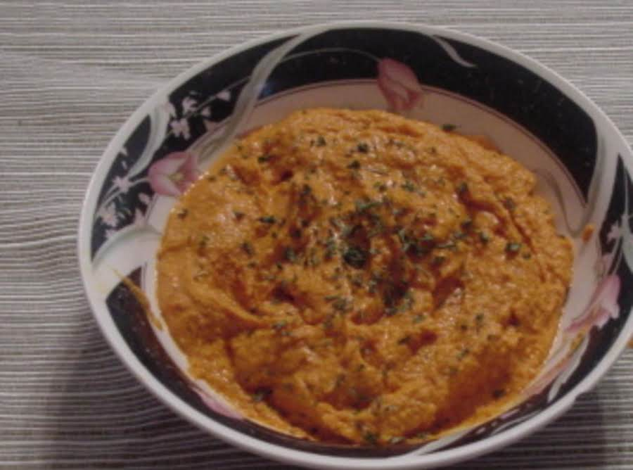 Spicy roasted red pepper hummus recipe just a pinch recipes for Roasted red pepper hummus recipes