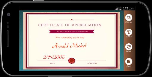 Certificate Maker app pro  screenshots 6