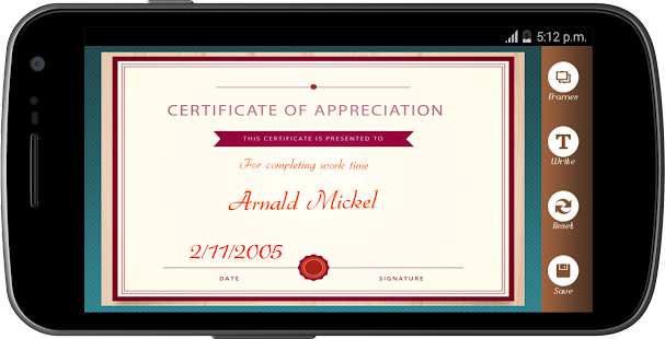 Certificate maker app pro android apps on google play certificate maker app pro screenshot thumbnail yadclub Gallery