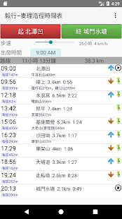 MacLehose Trail Timetable - náhled