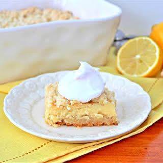 Gluten Free Lemon Cheesecake Crumb Bars.