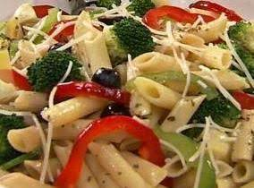 This Is The Perfect Cool Lunch For A Hot Summer Day. With Broccoli, Black Olives, Bell Peppers And Artichokes.