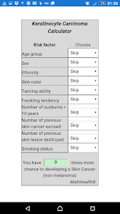 Skin Cancer Calculator screenshot 1