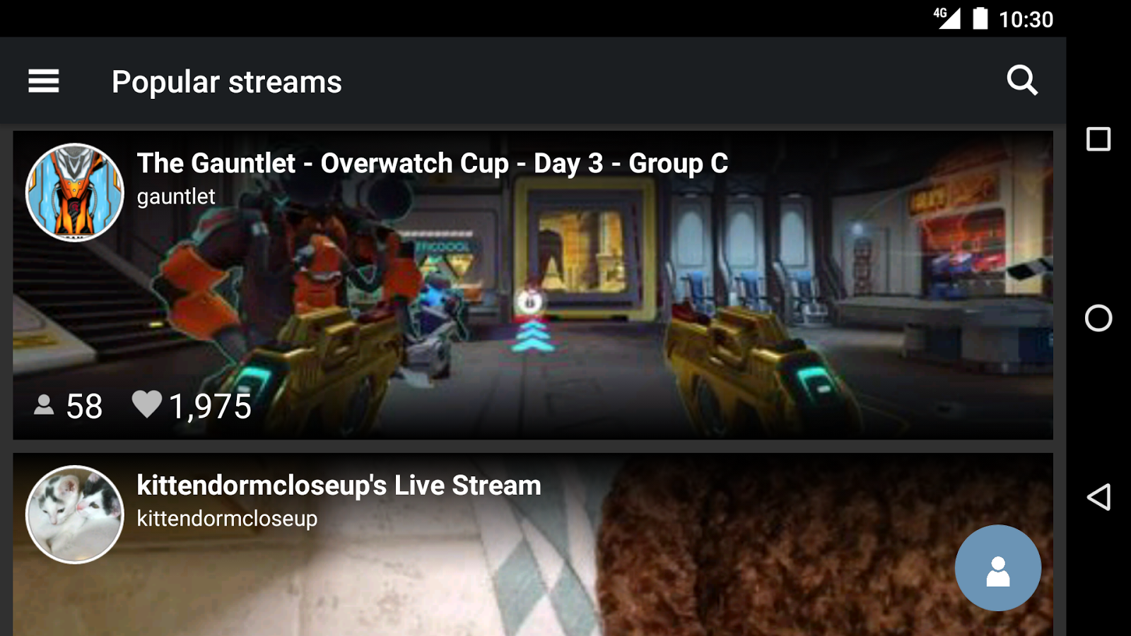 stream.me - Live Streams- screenshot