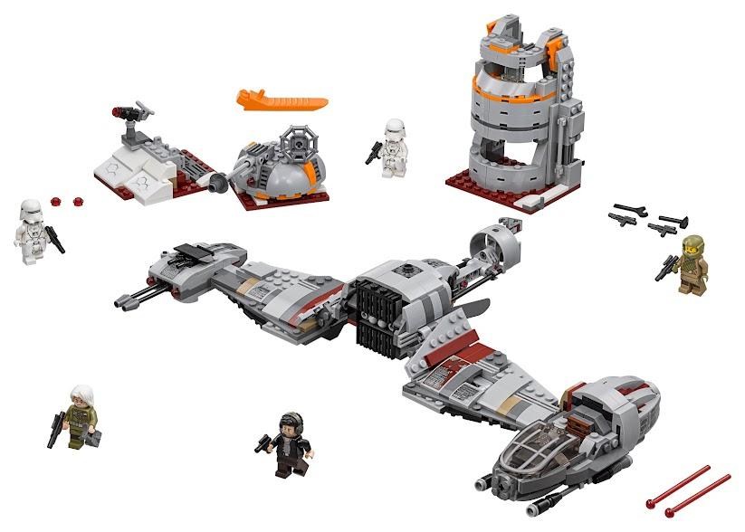 Contenido de Lego® 75202 Defensa de Crait™