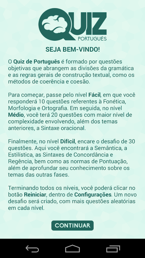 Quiz de Português- screenshot