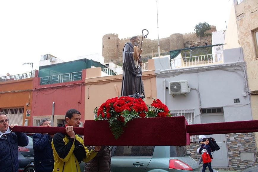 San Antón ante la Alcazaba.