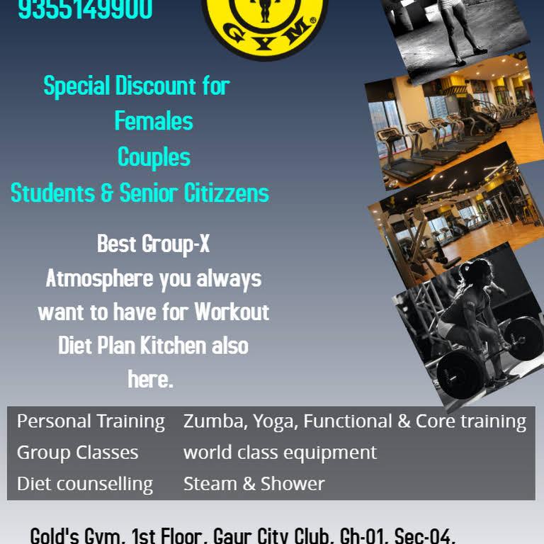Gold's Gym, Gaur City Club - Gym in Greater Noida West