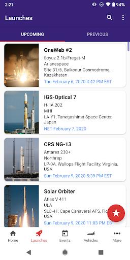 Next Spaceflight - Rocket Launch Schedule Apk 1
