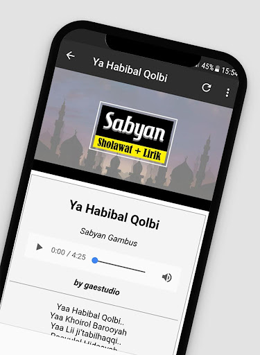Lagu Sholawat Versi Sabyan Offline + Lirik 1.2 screenshots 4