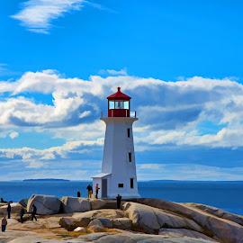 Halifax Lighthouse by Will McNamee - Digital Art Places ( mcnamee2169@yahoo.com, dld3us@aol.com, gigart@aol.com, danielmcnamee@comcast.net, ronmead179@comcast.net, aundiram@msn.com,  )