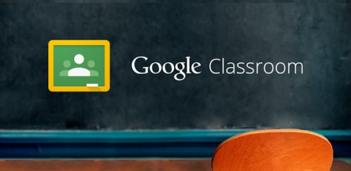 Image of chalkboard and chalk with Google Classroom logo