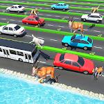 Animal Pets Traffic Highway Cross Icon