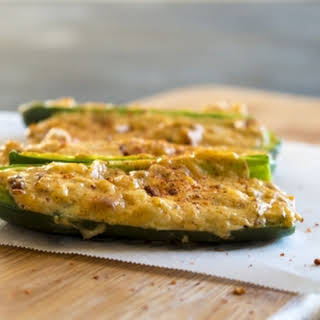 Chili and Cheese Stuffed Jalapeno Poppers.