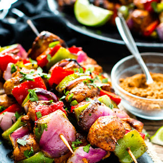 Grilled Fajita Chicken Kabobs with Vegetables Recipe