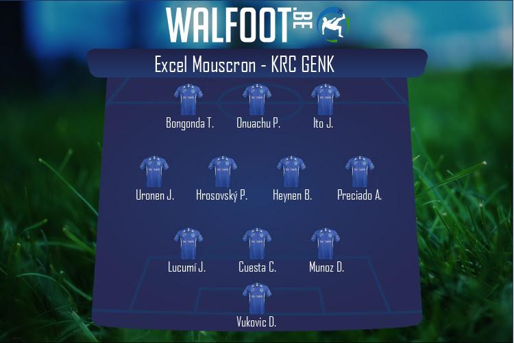 KRC Genk (Excel Mouscron - KRC Genk)
