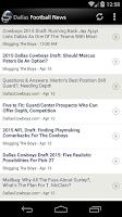 Screenshot of Dallas Football News
