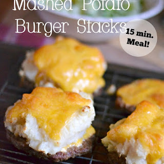 Mashed Potato Burger Stacks