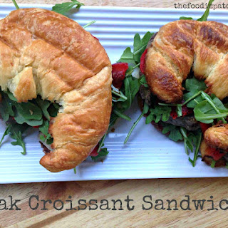 National Croissant Day | Steak, Arugula, Provolone Croissant Sandwich