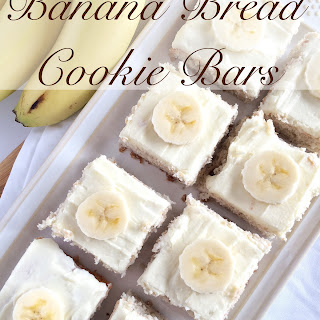 {2 Ingredient!} Banana Bread Cookie Bars