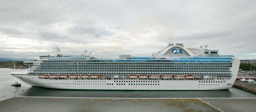 Emerald Princess docked in the port of Victoria, British Columbia.